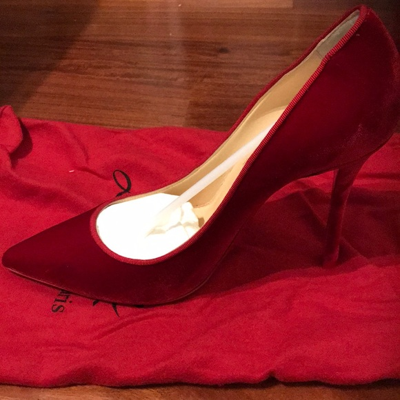 9a029af46cd0 A sexy pair of red velvet Christian Louboutins